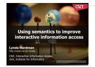 Using semantics to improve interactive information access