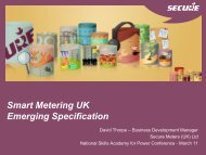 Smart Metering UK Emerging Specification - The SWAN Forum
