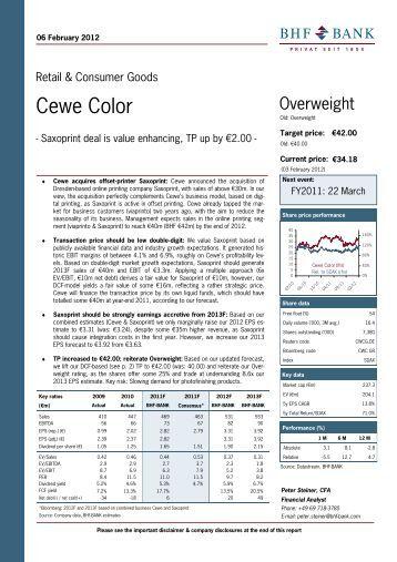 cewe color investor relations - Cewe Color