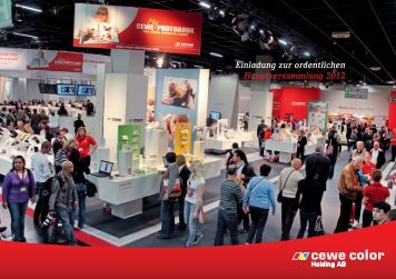 Einladung zur ordentlichen Hauptversammlung 2012 - CEWE COLOR