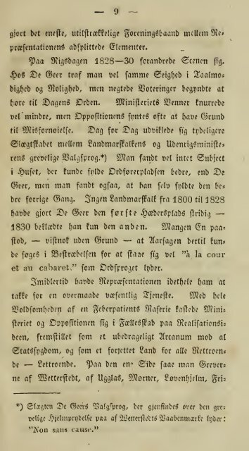 Skildringer til Dagens indre Historie (under den svenske Rigsdag ...