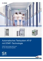 Automatisches Testsystem AT-S+ mit STAR+-Technologie - CEAG