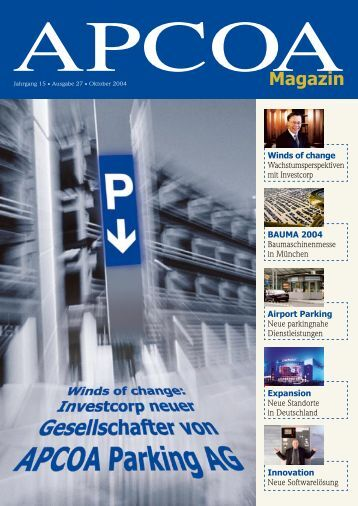 Magazin - APCOA