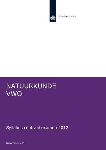 Syllabus Natuurkunde vwo - NVON