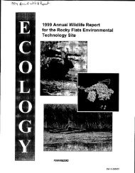 1999 Annual Wildlife Report for the Rocky Flats Environmental ...