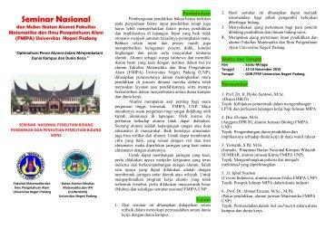 Seminar Nasional - iluni fmipa unp - Universitas Negeri Padang