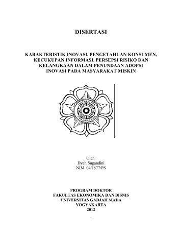 DISERTASI - Ugm - Universitas Gadjah Mada