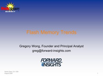 Flash Memory Trends - Forward Insights