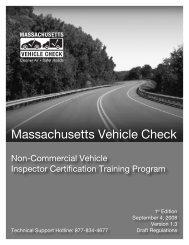 Massachusetts Vehicle Check - Mass08 Management Module ...