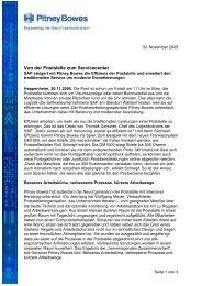SAP Anwenderbericht (Pdf) - Pitney Bowes