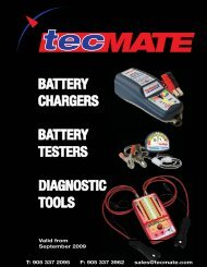BATTERY CHARGERS DIAGNOSTIC TOOLS BATTERY TESTERS
