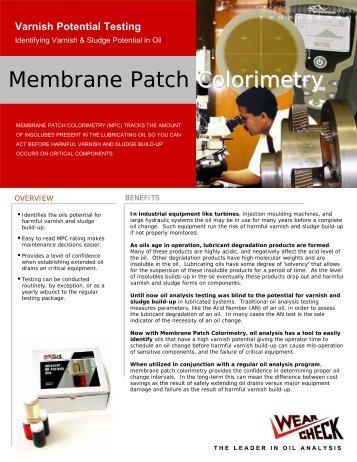 Membrane Patch Colorimetry (MPC) - Wear Check International