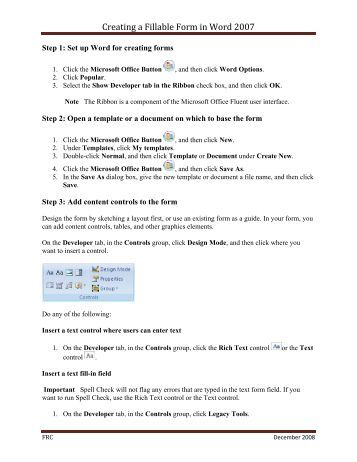 Fill In Form Template Word 2010 Cover Letter Templates