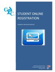student online registration - Caribbean Examinations Council