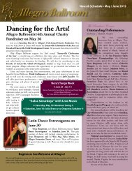 Dancing for the Arts! - Allegro Ballroom
