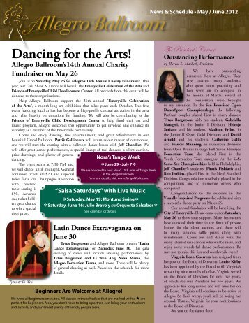 Dancing for the Arts! - Allegro Ballroom