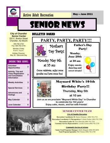Senior News - City of Chandler