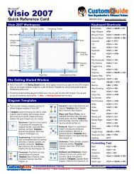 Visio Quick Reference, Microsoft Visio 2007 Cheat Sheet