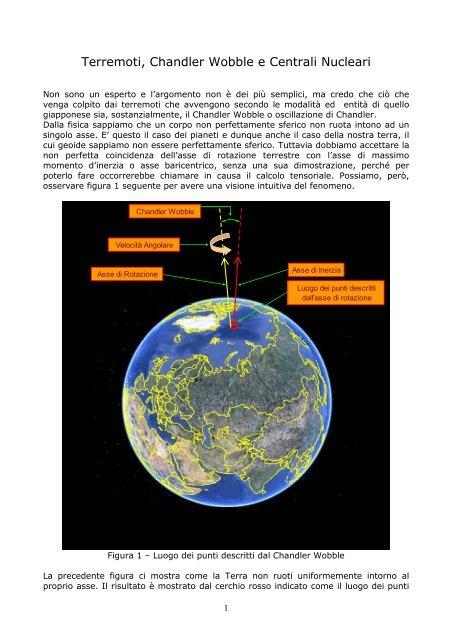 Terremoti, Chandler Wobble e Centrali Nucleari