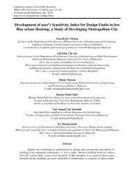 Development of user's Sensitivity Index for Design ... - EuroJournals