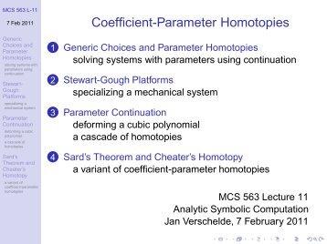 Coefficient-Parameter Homotopies