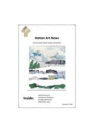 Hatton Art News - Tyne & Wear Museums