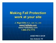 Making Fall Protection work at your site - Ellis Fall Safety Solutions