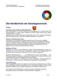 Die Hardtschule als Ganztagesschule - Stadt Ebersbach an der Fils