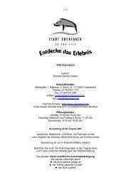VHS Ebersbach Leiterin - Stadt Ebersbach an der Fils