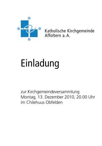 Einladung - kath.ch