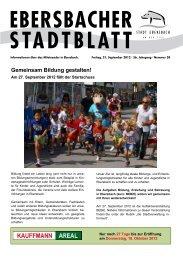 Gemeinsam Bildung gestalten! - Stadt Ebersbach an der Fils
