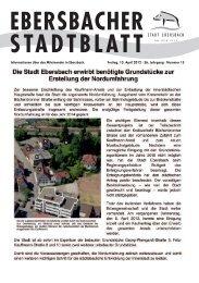 Ausgabe 15 vom 13.04.2012 - Stadt Ebersbach an der Fils
