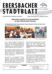 Ebersbach etabliert Schulsozialarbeit an allen Ebersbacher Schulen
