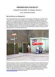 EBERSBACHER STADTBLATT - Stadt Ebersbach an der Fils