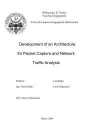 Development of an Architecture for Packet Capture and Network ...