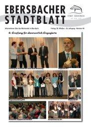 Informationen über das Miteinander in Ebersbach. Freitag, 28. Oktober
