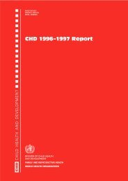 CHD 1996–1997 Report - libdoc.who.int - World Health Organization