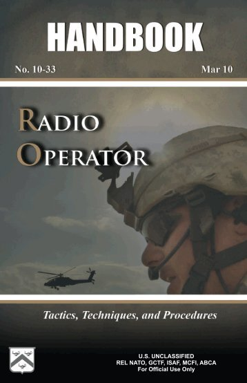 10-33: Radio Operator Handbook - GlobalSecurity.org