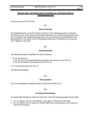 Satzung über die Erhebung der Grundsteuer und Gewerbesteuer ...