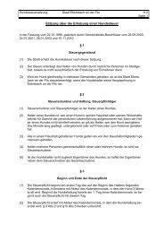 Satzung über die Erhebung einer Hundesteuer - Stadt Ebersbach ...