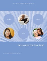 Preparing For The Tabe - Florida Department of Education