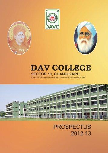 DAV 10 PROSPECTUS 2012-13 - DAV College
