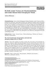 Die Rolle sozialer Normen, der Situationsdefinition und ... - ETH Zürich
