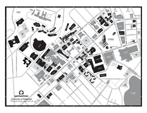 University Of Pitt Campus Map Campus Map   University of Pittsburgh
