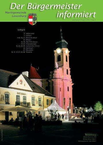 Der Bürgermeister informiert, Folge 4, August 2008 - in Laxenburg