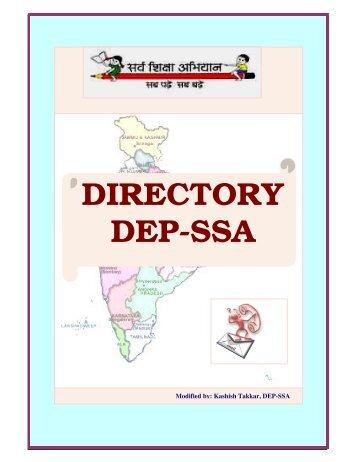 DIRECTORY DEP-SSA - ignou website