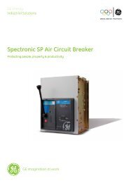 Spectronic SP Air Circuit Breaker - GE Industrial Systems