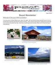 Summer 2010 - Polson Motorcoach & RV Resort