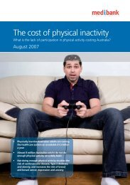 The cost of physical inactivity - Medibank