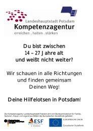 Kompetenzagentur Landeshauptstadt Potsdam - EBG